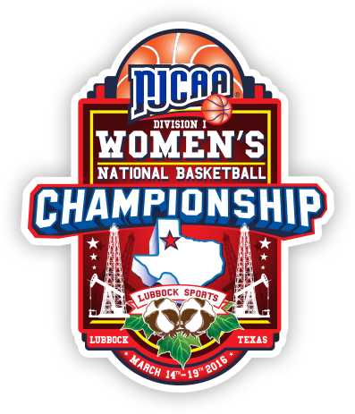 NJCAA Division I Women's Basketball Championship - Lubbock Texas Logo